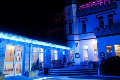 Stradey Park Hotel at night