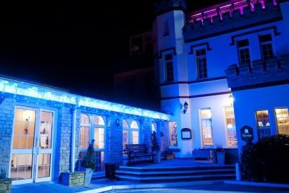 Stradey Park Hotel at night