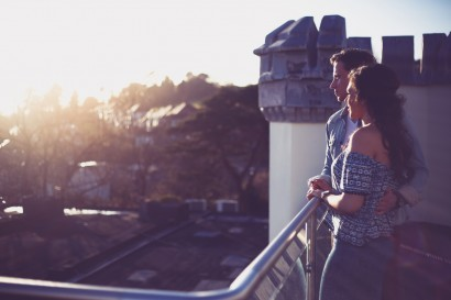 Stradey Park Hotel rooftop couple