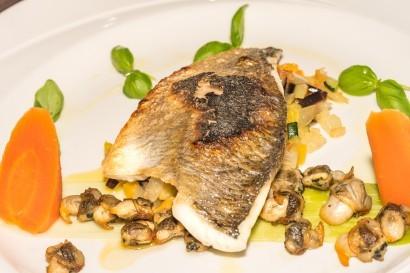 Stradey Park Hotel Samphires Restaurant fish